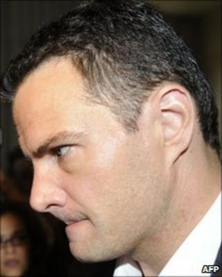 Jerome Kerviel arriving at court