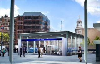 Revamped Victoria Station entrance
