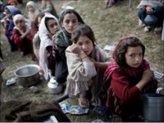 Refugee camp in Mardan, north-west Pakistan 2008
