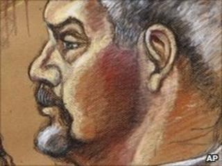 Artist's rendering of Scott Rothstein in court on 9 June, 2010