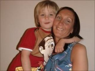 Lyndsey Tinney and her son Gary