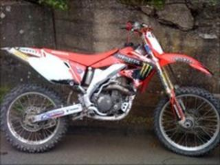 Bike seized by North Wales Police