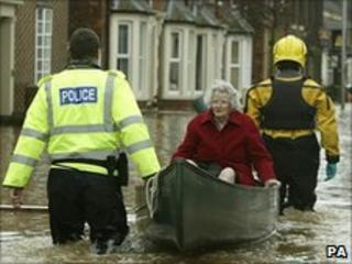 Woman rescued during Carlisle flood