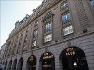 The Ritz Hotel in London
