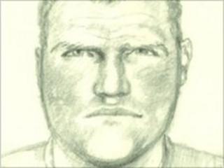 Artist's drawing of attacker