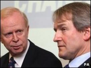 Sir Reg Empey and Owen Paterson