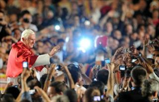 Pope Benedict XVI at St Peter's Square