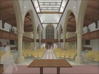 Artist's impression of the church interior