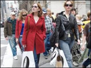 Shoppers in Manhattan