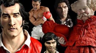 Groggs of Gareth Edwards, Muhammad Ali, Bruce Springsteen, Bryn Terfel as Falstaff, and George Best