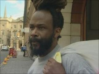 Stanley Bailey outside Bristol Crown Court