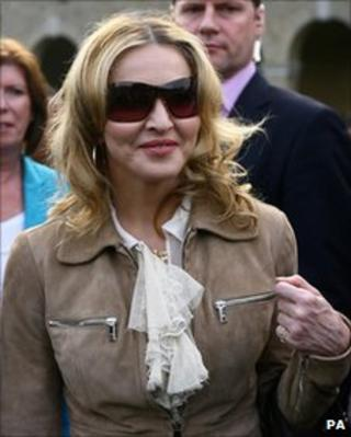 Madonna at the school in Kent