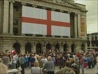 Parade through Nottingham's Market Square