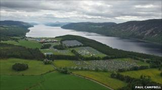 RockNess site from the air. Pic: Paul Campbell