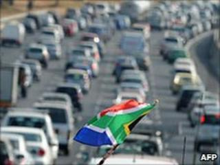 Heavy traffic near opening World Cup game