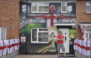 Lee Bray standing outside his home in Knowle West