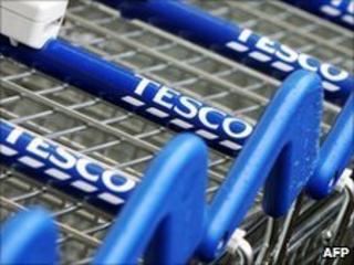 Tesco shopping trolleys