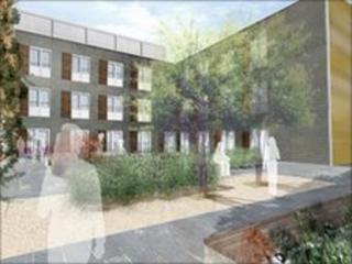 An artist's impression of the extension to Rosie Hospital