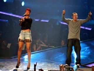 R&B singer Rihanna and Eminem