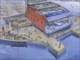 Artist's impression of Aeronautica museum