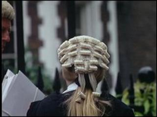 Barrister in wig