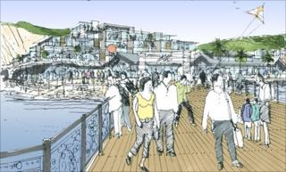Artist impression of the pier development