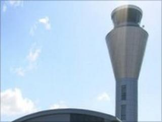 Jersey Airport air traffic control tower