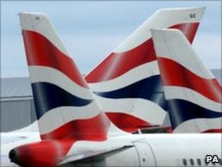 BA planes