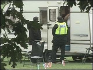 Travellers on the site last August