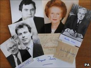 Pictures of prime ministers and autographs - Barry Batchelor/PA Wire