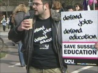 Unversity of Sussex picket line