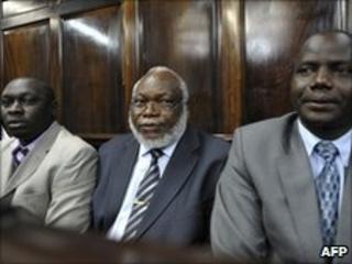 Kenyan MPs (L-R) Joshua Kutuny, Wilfred Michage and Fred Kapondi