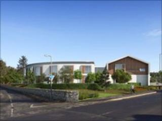 Artist's impression of community hospital