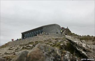 Hafod Eryri visitors' centre, Snowdon, opened on June 12, 2009