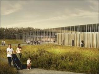 Planned visitor centre at Stonehenge