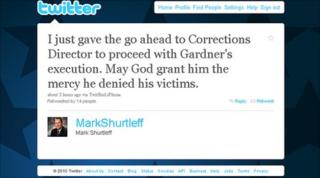 Mark Shurtleff's Twitter page