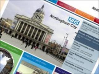 NHS Nottingham City website