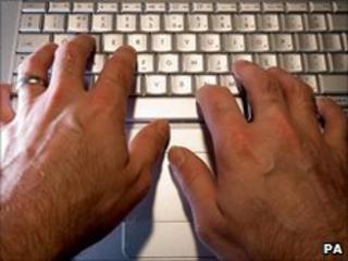 Laptop user (file pic)