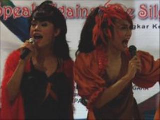 Drag artists in Jakarta