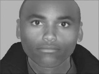 The e-fit of the suspect in the attack in south-west London