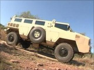 Paramount Group's armoured vehicle