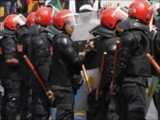 File photograph of Malaysian police