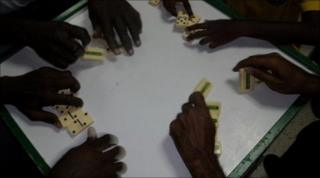 Domino-players in Jamaica