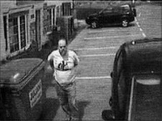 CCTV showing Dr Layfield by the village shop