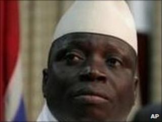 Incumbent President Yahya Jammeh