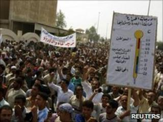 Demonstration against power cut in Basra, Iraq, 19 June