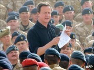 David Cameron in Afghanistan