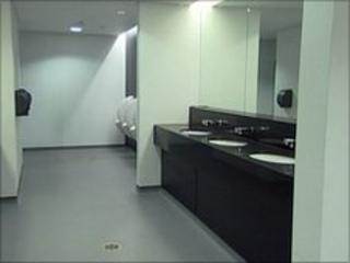Players' toilets inside Wembley Stadium
