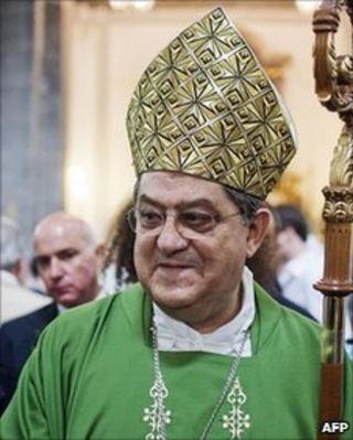 Cardinal Crescenzio Sepe at church, 20 June 2010