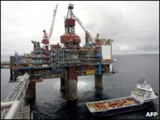 North sea gas rig